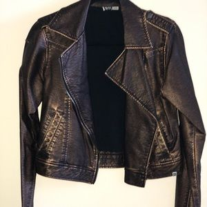 Leather jacket biker style